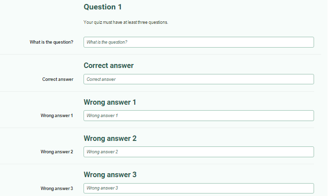 multiple choice quiz creator