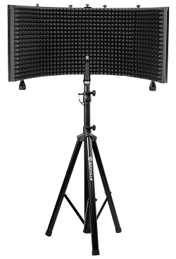 Rockville Microphone Shield + Heavy Duty Tripod Stand