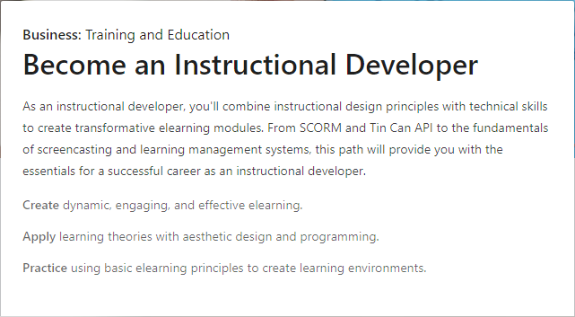 Become an Instructional Developer